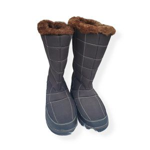 Itasca Winter Boot 8 Womens Brown Mid Calf Slip On